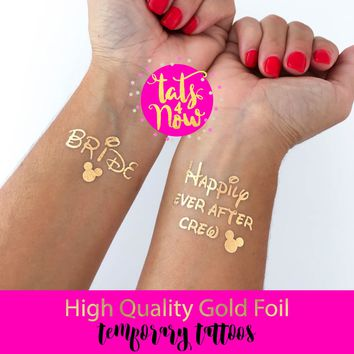 Happily ever after crew gold tattoos
