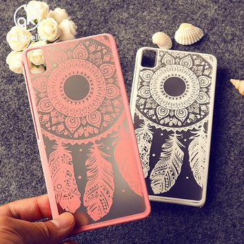 AKABEILA Dreamcatcher Flower Phone Cases For BQ Aquaris E5\M4.5\M5\X5 Oil painted  Phone Cover Phone Accessories Housing