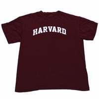 Vintage 90s Distressed Harvard Shirt Mens Size Large