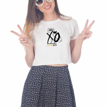 Drake Owl OVOXO Art For Womens Crop Shirt **