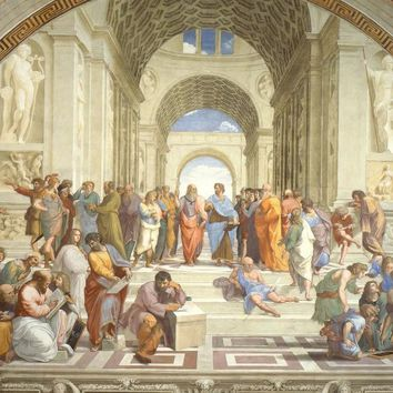 Large Figure Oil Painting for Living Room Wall Decor Art The School of Athens Italian Renaissance Art by Raphael Hand Painted