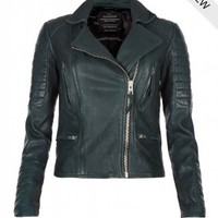 AllSaints Forest Leather Biker Jacket | Womens Leather Biker Jackets