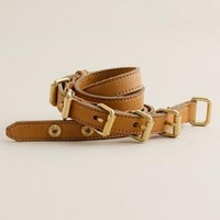 Women's accessories - belts - Multi-buckle belt - J.Crew