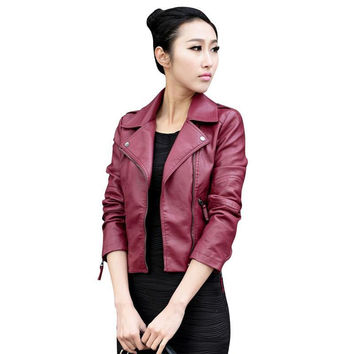 PU Leather Jacket Outwear