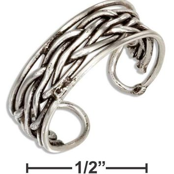 Sterling Silver Woven Toe Ring