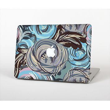 The Abstract Subtle Toned Floral Strokes Skin Set for the Apple MacBook Pro 15""