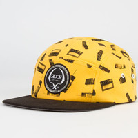Rook 444 Mens 5 Panel Hat Black/Yellow One Size For Men 23052292801