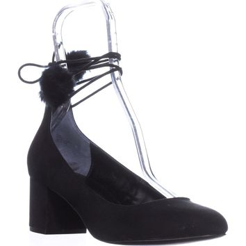 Charles by Charles David Libby Ankle Strap Heels, Black, 9 US