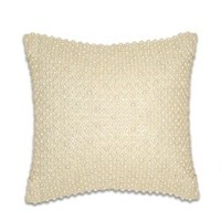 Thro by Marlo Lorenz 1170 All Over Pearl 12 by 12-Inch Pillow, Ivory