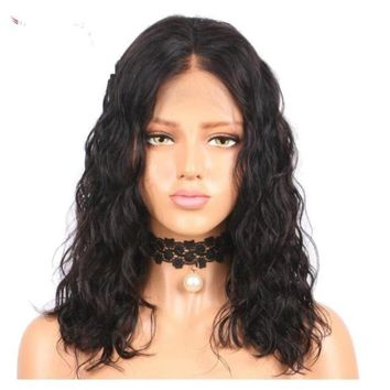 Brazilian Short Wavy Bob Lace Front Human Hair Wig With Baby