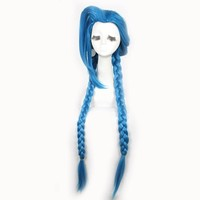 L-email Long Braid Loose Cannon Cosplay Wig Blue