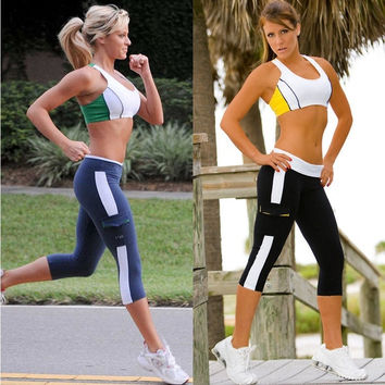 Sport Style gym Women Tights Capri Running yoga Pants Shorts Cropped Fitness = 1932989188