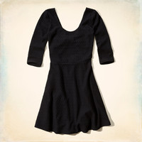 Paradise Cove Textured Skater Dress