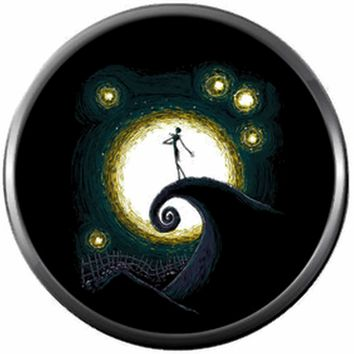 Starry Night Spiral Hill Jack Halloween Town Nightmare Before Christmas Jack Skellington 18MM - 20MM Charm for Snap Jewelry New Item