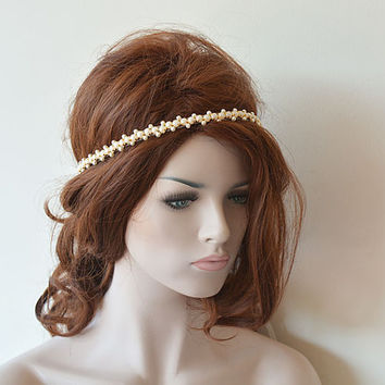 Wedding hair Accessory, Bridal Headband,  Bridal Hair Accessory, Hair Accessories for Wedding, Pearl Headband Wedding