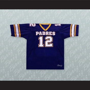 Tom Brady 12 Junipero Serra Padres High School Football Jersey