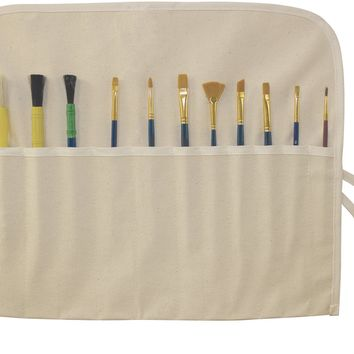 "Canvas Artist Brush Holder 18""X14""-Natural"