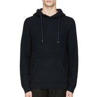Marc By Marc Jacobs Normandy Blue Cashmere Honeycomb Hoodie