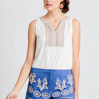 Alpine Embroidered Shorts
