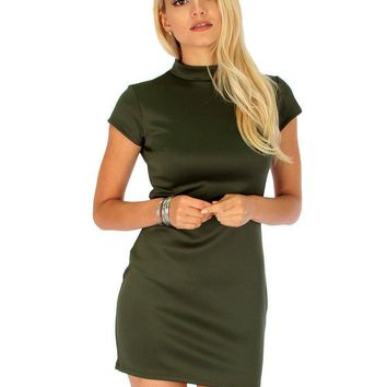 Lyss Loo Show Off Olive Bodycon Dress