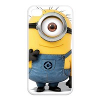 Funny Despicable Me Minions Iphone4/4S Rubber Cover Case by Creative House