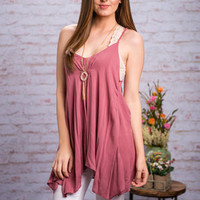 Pull It Together Tank, Mauve