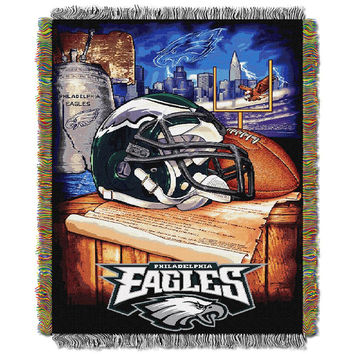 Philadelphia Eagles NFL Woven Tapestry Throw (Home Field Advantage) (48x60)