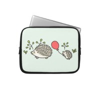 Baby Hedgehog's Red Balloon Laptop Sleeve from Zazzle.com