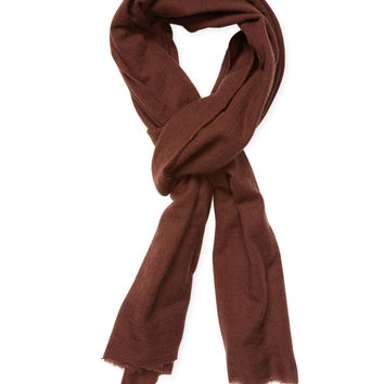 Rick Owens Men's Frayed Scarf - Red