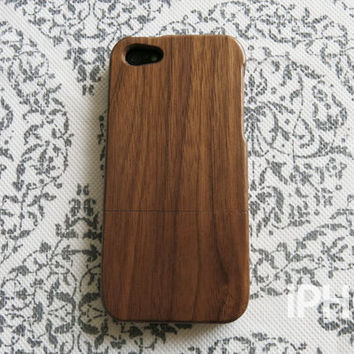 Wood iPhone 5 Case, iPhone 5s Case - Walnut Wood, Real Wood Case, Eco Friendly, Minimal, Natural Wood, iPhone5 Case, Tree, Nature