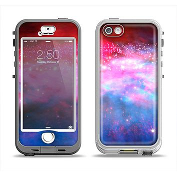 The Vivid Pink and Blue Space Apple iPhone 5-5s LifeProof Nuud Case Skin Set