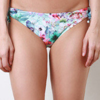 Butterfly Orchid Bikini Bottom Color: Blue, Size: L