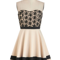 ModCloth Short Length Strapless A-line Glam of the Hour Dress