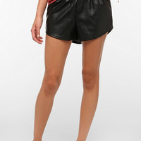 byCORPUS Faux Leather Runner Short