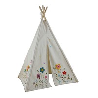 Dexton Flower Teepee Tent, Size: One Size (Red)