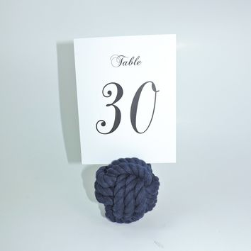 "Nautical Knot Card Holder, Navy, 3"", 3-Pass"