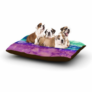 "Ebi Emporium ""California Surf 2"" Orange Blue Dog Bed"