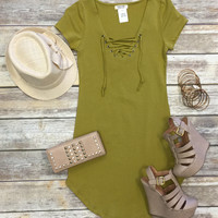 Fun in the Sun Tie Dress: Pear