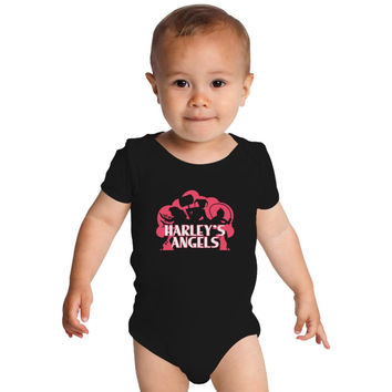 Harley's Angels Baby Onesuits