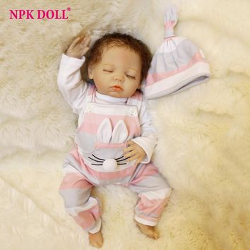 45CM Adorable Bebe Dolls Sleeping Baby Doll Reborn de Silicone Girls Children Toys