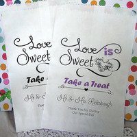 Wedding Candy Bags - Wedding Favor Bags - Love is Sweet CB01za
