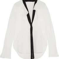 Chloé - Ruffled silk crepe de chine blouse