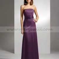Bridal Party Dresses - Satin Apple Bridesmaid Dresses with Sash- Style 2512 - Wedding Party - Wedding Apparel - Affordable Wedding Dresses Manufacturer