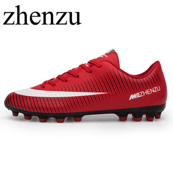zhenzu Football Boots Cleats soccer Shoes mens football cleats boot Chuteiras botas de futbol voetbalschoenen women Adult & Kids