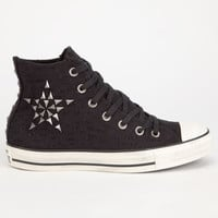 Converse Chuck Taylor All Star Hi Womens Shoes Black  In Sizes