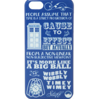 Doctor Who Wibbly Wobbly iPhone 5/5S Case
