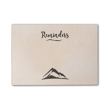 Mountain Illustration in Black - Reminders Post-it® Notes