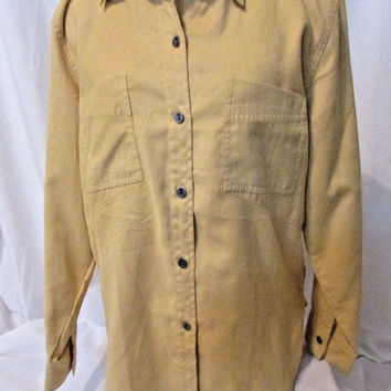 Chico's Shirt  Women's Size 1 or Medium Long Sleeve Blouse Color Yellow