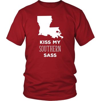 State T Shirt - Louisiana Kiss my southern sass