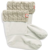 Women's Hunter Original Short Cable Knit Cuff Welly Socks,